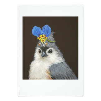 Carly the tufted titmouse flat card