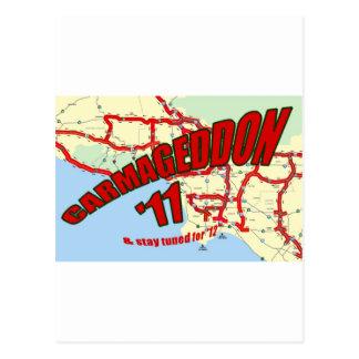 CARMAGEDDON 405 Gridlock in Los Angeles Get it now Postcard