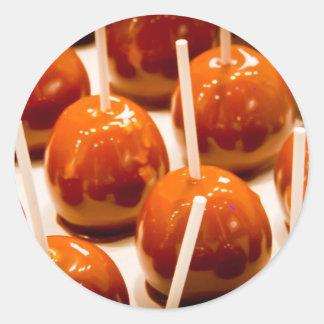 Carmel Apple Classic Round Sticker