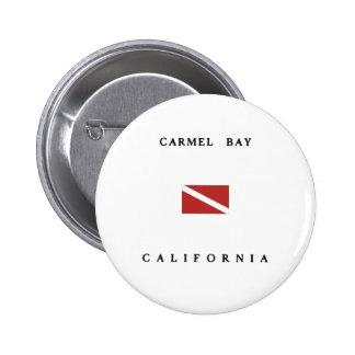 Carmel Bay California Scuba Dive Flag 6 Cm Round Badge