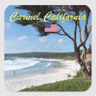 CARMEL BY THE SEA - MONTEREY CALIFORNIA USA SQUARE STICKER
