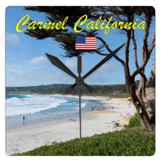 CARMEL BY THE SEA - MONTEREY CALIFORNIA USA SQUARE WALL CLOCK