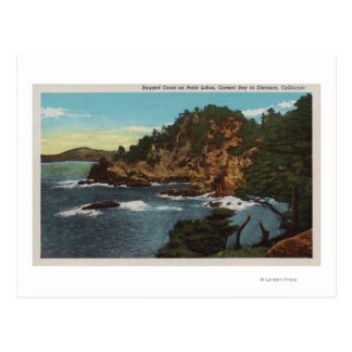 Carmel, CA - Rugged Coast on Point Lobos Postcard