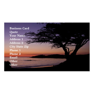 Carmel, CA Sunset Business Card