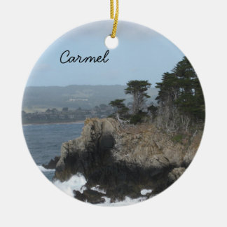 Carmel, California Ceramic Ornament