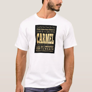 Carmel City of California Typography Art T-Shirt