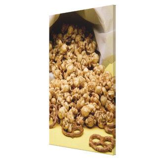 Carmel Corn and pretzels Canvas Print