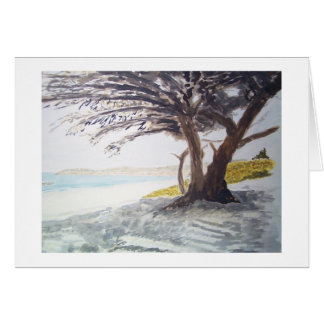 carmel cypress foot of ocean ave greeting card