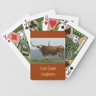 Carmel Longhorn Steer Playing Cards - personalize