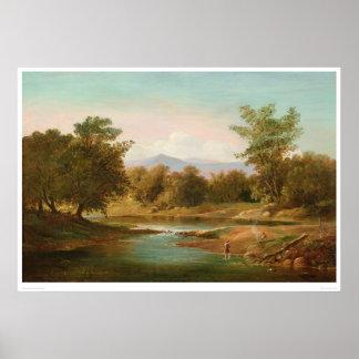 Carmel River Scene (0236A) Posters