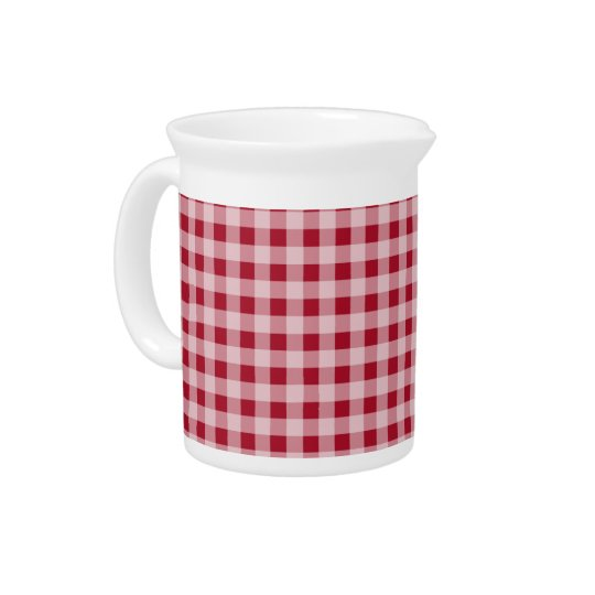 Carmine Red Gingham; Chequered Pitcher