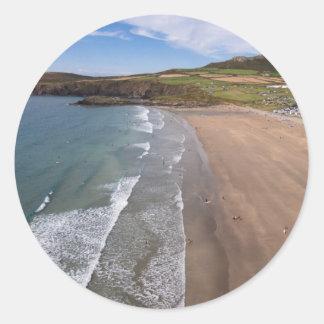 Carn Llidi and Whitesands Bay Wales Classic Round Sticker