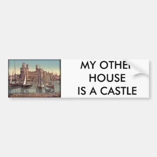 Carnarvon Castle Vintage Photo Bumper Sticker