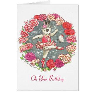 Carnation Birthday card