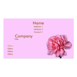 Carnation Business Cards