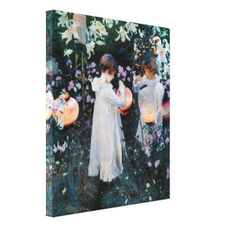 Carnation Lily Lily Rose by John Sargent Stretched Canvas Print