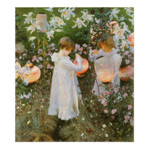 Carnation, Lily, Lily, Rose By John Singer Sargent Poster