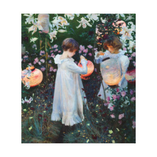 Carnation Lily Lily Rose John Sargent Fine Art Stretched Canvas Print