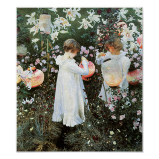 Carnation Lily Lily Rose John Sargent Fine Art Poster