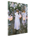 Carnation, Lily, Lily, Rose, Sargent Victorian Art Gallery Wrapped Canvas