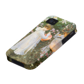 Carnation, Lily, Lily, Rose, Sargent Victorian Art iPhone 4 Cases