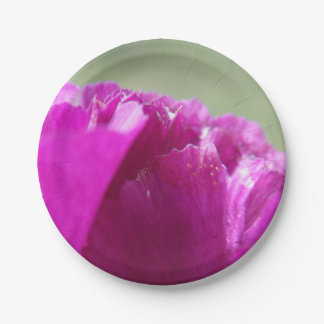 Carnation Petals 7 Inch Paper Plate
