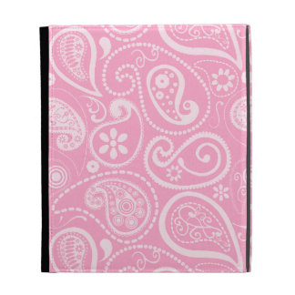 Carnation Pink Paisley; Floral iPad Case