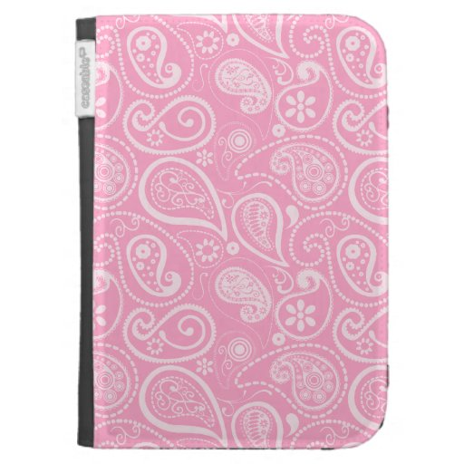 Carnation Pink Paisley; Floral Kindle 3 Cover