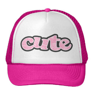 Carnation Pink Paisley; Floral Trucker Hat