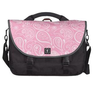 Carnation Pink Paisley; Floral Bag For Laptop