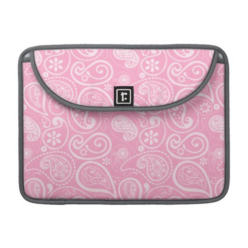 Carnation Pink Paisley; Floral Sleeves For MacBook Pro