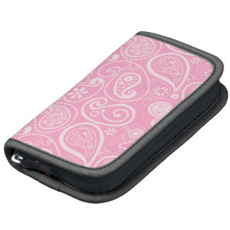 Carnation Pink Paisley; Floral Folio Planners
