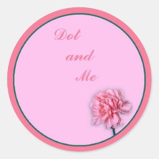 Carnation Round Sticker