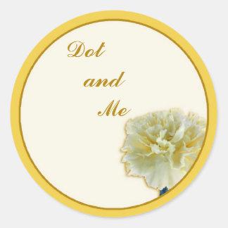 Carnation Round Stickers