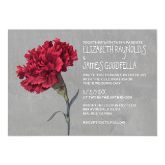 Carnation Wedding Invitations