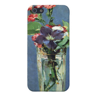Carnations and Clematis in a Crystal Vase, Manet iPhone 5 Cover