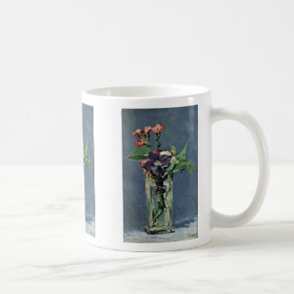 Carnations And Clematis In A Crystal Vase Mugs