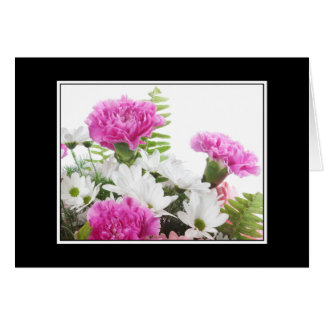 Carnations and Daisies Greeting Card