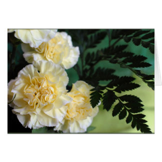 """Carnations and Ferns"" Card"