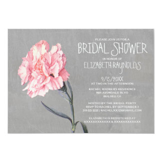 Carnations Bridal Shower Invitations