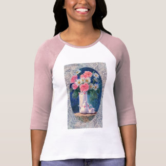 CARNATIONS & OLD LACE by SHARON SHARPE T-shirt