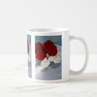 Carnations on silk mugs