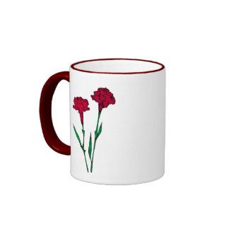 Carnations Ringer Mug