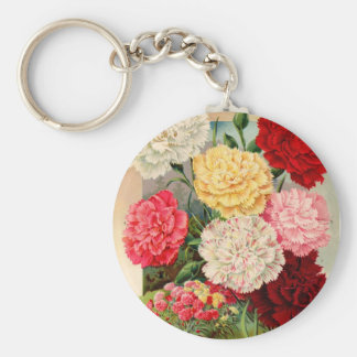 Carnations Seed Packet Keychain