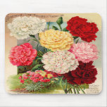 Carnations Seed Packet Mousepad