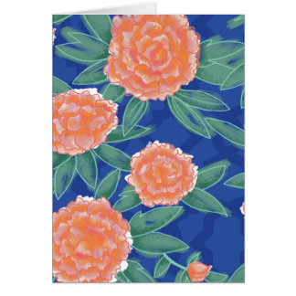 """Carnations"" Vintage Flower Illustration Poster Card"