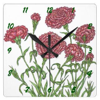 Carnations Wall Clocks