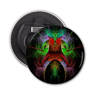 Carnaval Abstract Art Button