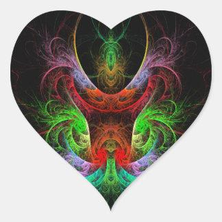 Carnaval Abstract Art Heart Sticker
