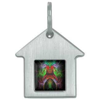 Carnaval Abstract Art House Pet Name Tag